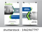 cover design of annual report... | Shutterstock .eps vector #1462467797