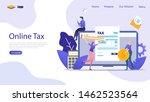 online tax vector illustration...