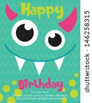 monster party card design.... | Shutterstock .eps vector #146258315