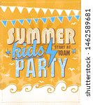 summer kids party poster design ... | Shutterstock .eps vector #1462589681