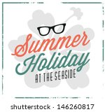 summer holiday calligraphic...   Shutterstock .eps vector #146260817