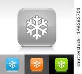snowflake icon. blue  orange ...