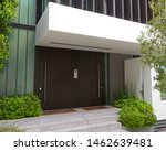 modern house etrance dark brown ... | Shutterstock . vector #1462639481
