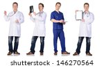doctor and  intern with x pay... | Shutterstock . vector #146270564
