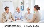 candidate on a job interview. | Shutterstock . vector #146271659