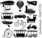 retro transport icons.   Shutterstock .eps vector #146271701