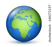 world globe map   africa and... | Shutterstock .eps vector #146272157