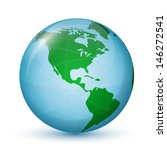 north and south america. globe... | Shutterstock .eps vector #146272541