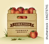 retro crate of tomatoes.... | Shutterstock .eps vector #146273741