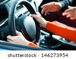driving school   young woman... | Shutterstock . vector #146273954