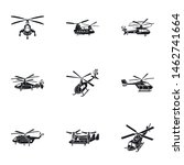 Modern Helicopter Icon Set....