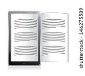 ebook reader. tablet...