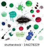 Watercolor Splatter. Vector...