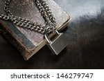Old Book With Chain And Padloc...