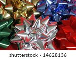 group of large bows - stock photo