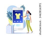 shopping online on mobile...