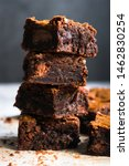 Chocolate Brownie Cake Close Up