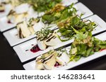 Grilled Camembert cheese - stock photo