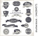 premium quality labels  ... | Shutterstock .eps vector #146284571