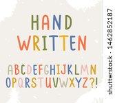 vector sans upper case alphabet....   Shutterstock .eps vector #1462852187