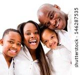 Happy Family Portrait Smiling ...