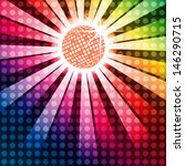 discoball with funky rainbow... | Shutterstock .eps vector #146290715