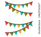 illustration. carnival garland... | Shutterstock . vector #1462916267