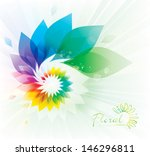 abstract colorful floral swirl... | Shutterstock .eps vector #146296811