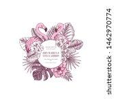 pink flamingo wedding... | Shutterstock .eps vector #1462970774