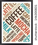 coffee words cloud poster