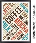 Coffee Words Cloud Poster