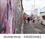 Tourists At The Berlin Wall....