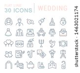 set of line icons of wedding... | Shutterstock . vector #1463021174