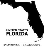 vector map of florida state... | Shutterstock .eps vector #1463030591