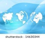 world map technology style