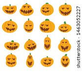 set pumpkin on white background.... | Shutterstock .eps vector #1463052227