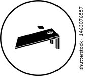 cornhole board with sack symbol | Shutterstock .eps vector #1463076557