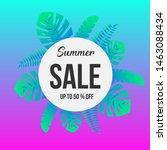 modern summer sale gradient... | Shutterstock .eps vector #1463088434