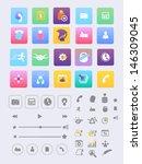 flat design. big pack icons.
