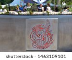 Small photo of Gilroy, CA - July 27, 2019: Unidentified participants at the 41st annual Garlic Festival, one of the largest annual food festivals in the United States entertaining thousands of visitors annually.