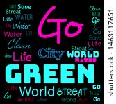 green world word cloud  go... | Shutterstock . vector #1463117651