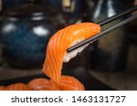 Salmon Sushi Japanese Food...