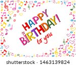 happy birthday to you  ... | Shutterstock .eps vector #1463139824