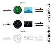 isolated object of war and ship ... | Shutterstock .eps vector #1463154401