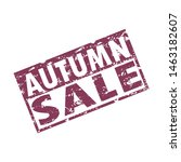 autumn sale rubber stamp...