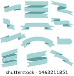 pastel blue ribbon set... | Shutterstock .eps vector #1463211851