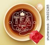 Stock vector tea time design template 146321285