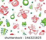 festive christmas seamless... | Shutterstock .eps vector #146321825
