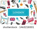 Flat London Colorful Concept...
