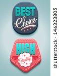 modern vector badges | Shutterstock .eps vector #146323805